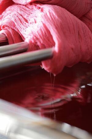 dyeing: Safflower benibana dyeing