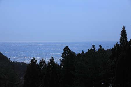 산 리쿠 고이시 해안 지평선 스톡 콘텐츠
