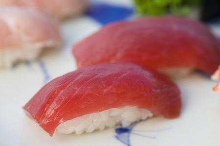 Tuna nigiri Stock Photo