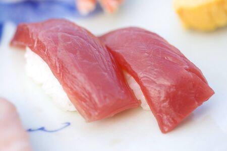 nigiri: Tuna nigiri Stock Photo