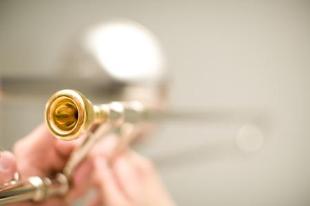trombon: Tromb�n  Foto de archivo