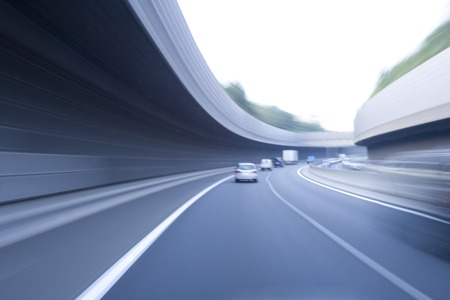 road and path through: High speed road