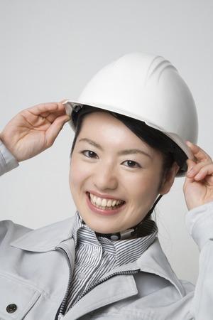 seres vivos: Mujer que desgasta la ropa de trabajo