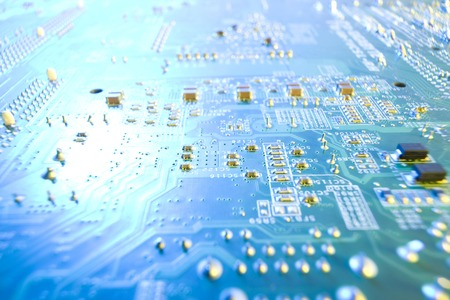 science tips: electronic components Stock Photo