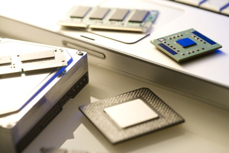 components: electronic components Stock Photo