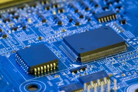 electronic: electronic components Stock Photo