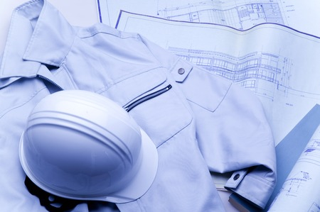 Drawings and work wear Stock Photo