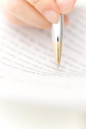 writing utensil: Note Stock Photo