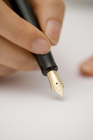 writing utensil: Fountain pen Stock Photo