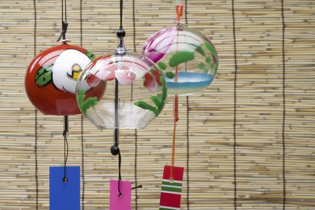 to chime: Wind chimes