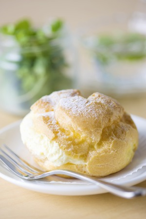 t off: Cream puffs Stock Photo
