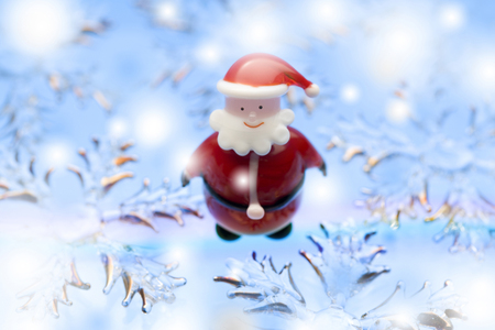 end of rainbow: Santa Claus Stock Photo