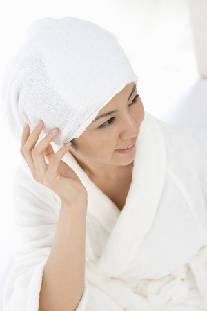 healing with sound: Female portrait Stock Photo