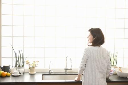 home life: Female portrait Stock Photo