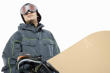 snowboarding: Man snowboarding Stock Photo