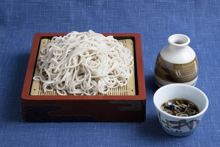 buckwheat noodle: Zaru Soba Stock Photo