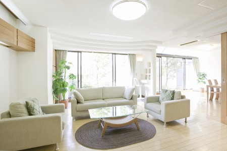 interior lighting: Living room Stock Photo