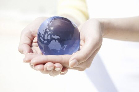 cleansed: World globe Stock Photo