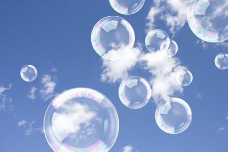 bulles de savon: bulles de savon Banque d'images