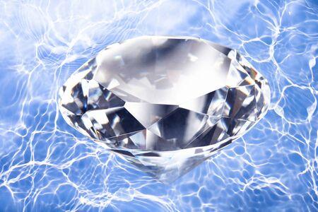 Diamonds and water Stock Photo
