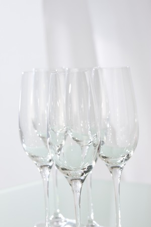 cleansed: Wine glass Stock Photo