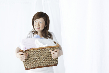 Washer woman with a basket.