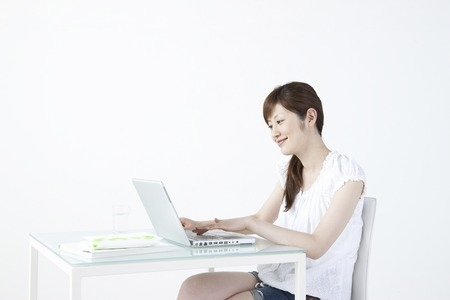 washed out: Women in PC Stock Photo