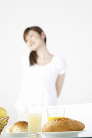 pliable: Breakfast with girls Stock Photo