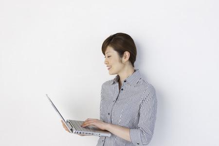 Women in PC Stock Photo