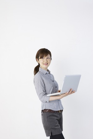 check ups: Women in PC Stock Photo