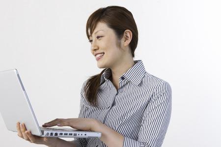 check ups: Women in PC Stock Photo