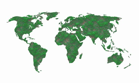 environmental issues: Map of the world Stock Photo