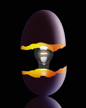 crazing: Egg shells Stock Photo