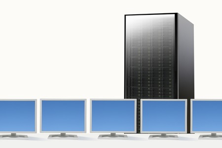PC and server Stock Photo