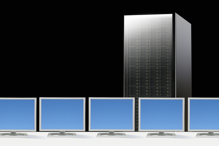 pc: PC and server Stock Photo