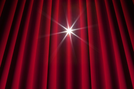 audition: Stage curtains Stock Photo