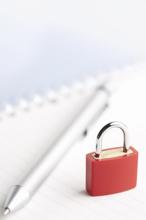 writing utensil: Security image Stock Photo