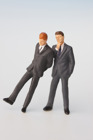 scaled down: Business partner Stock Photo