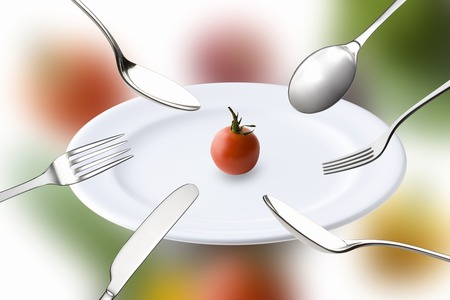 tableware life: Tomatoes on the dish