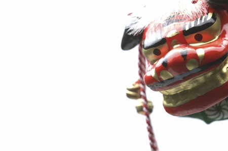 joyous festivals: Lion dance Stock Photo