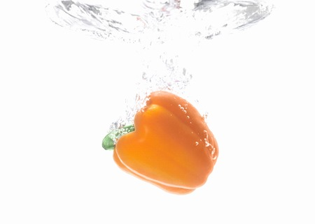 enters: Moment water enters the paprika