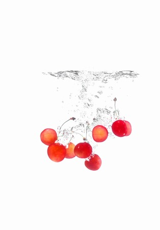 entered: moment that Cherry has entered the water