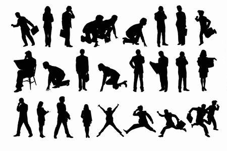 Business mensen silhouetten Stockfoto