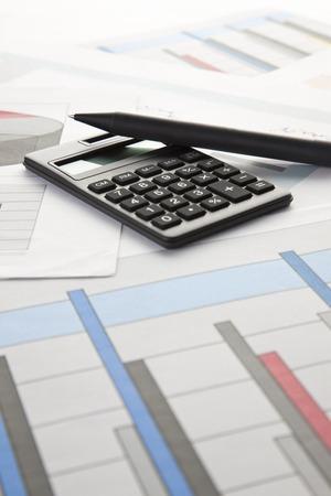 writing utensil: Calculator and chart