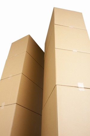 neatly stacked: Corrugated cardboard and afterward
