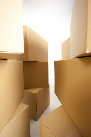 tidying up: Corrugated cardboard and afterward