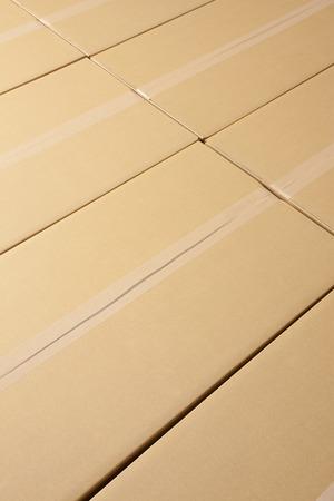 tidying up: Corrugated cardboard Stock Photo
