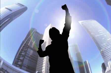 job hunting: The guts pose to businessman