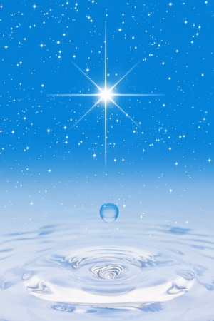 radiancy: Starry sky and water