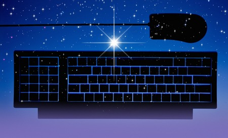 radiancy: Starry sky and keyboard